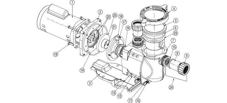 Pentair SuperFlo Pump Schematic