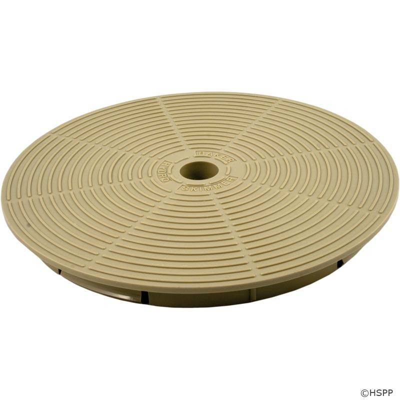 Baker hydro 51b1017 tan skimmer lids on sale at yourpoolhq - Swimming pool skimmer basket covers ...