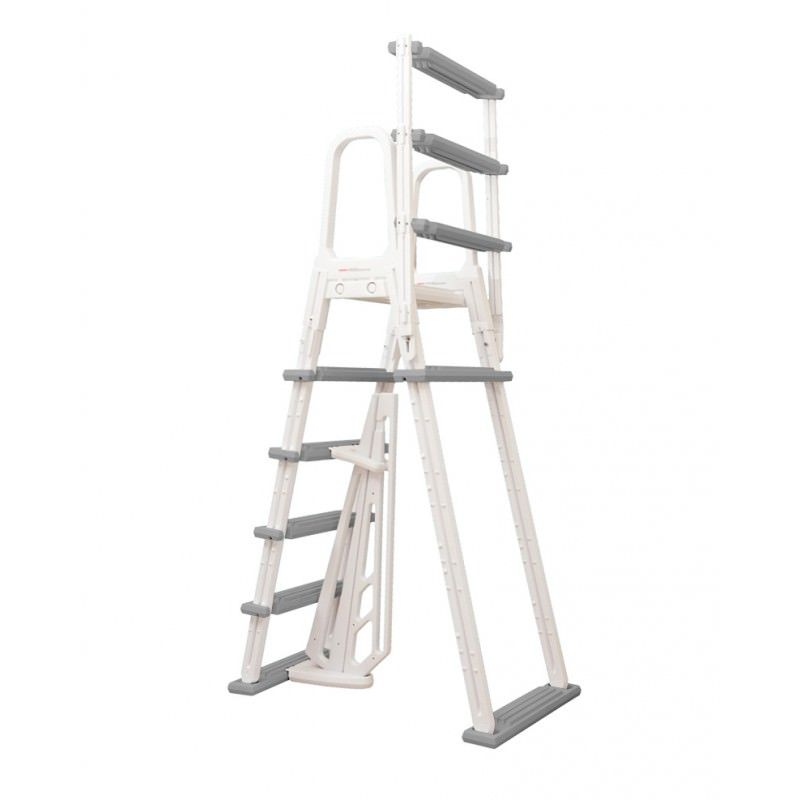 Heavy duty above ground pool a frame ladders on sale at yourpoolhq for Heavy duty swimming pool ladders