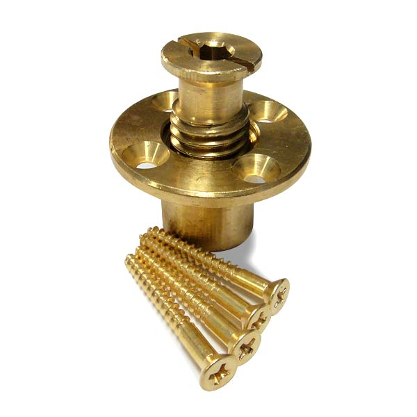 Brass Anchor with Screw for Pool Safety Covers with Wood Deck