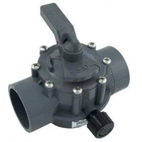 Jandy 2-Way Gray Diverter Valve CPVC - 2 Inch x 2.5 Inch - 2876